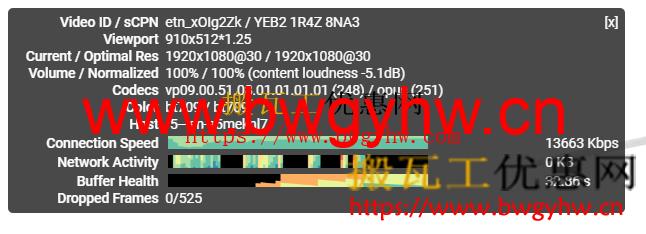 搬瓦工QN机房YouTube速度