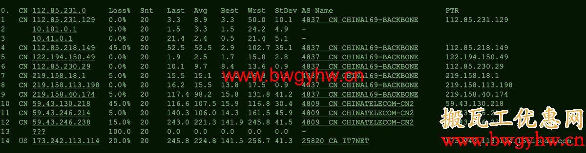 搬瓦工DC6 CN2 GIA路由评测