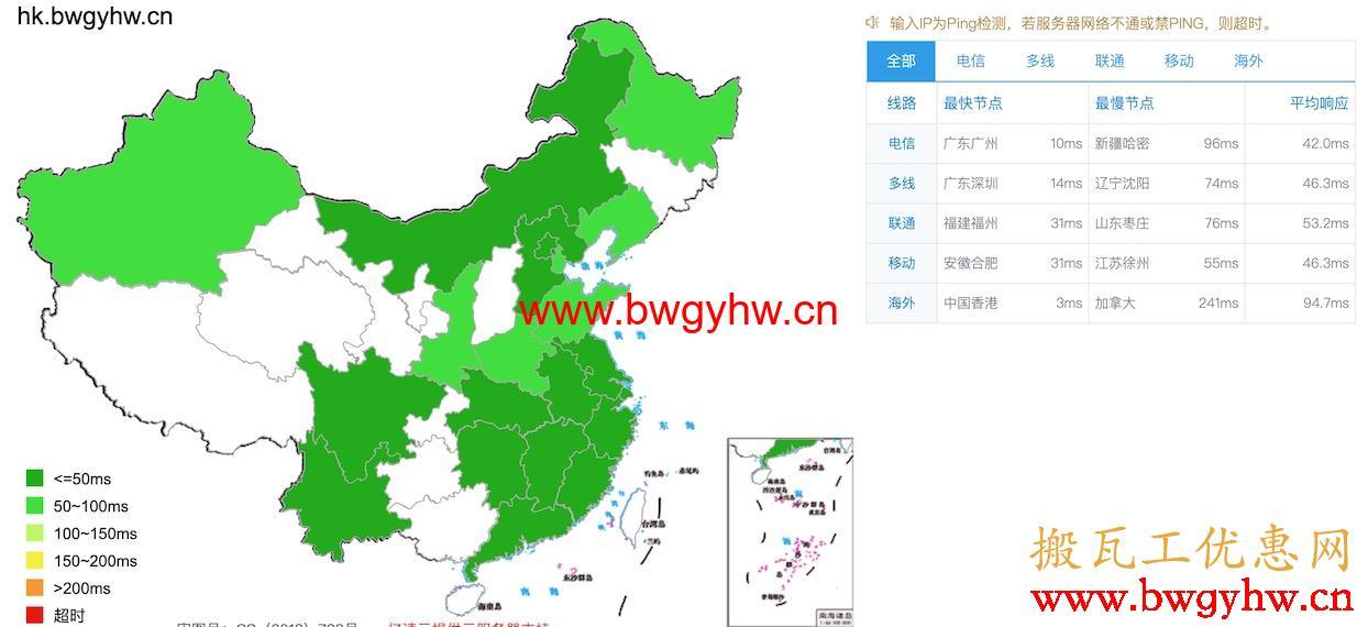 搬瓦工香港CN2 GIA延迟评测
